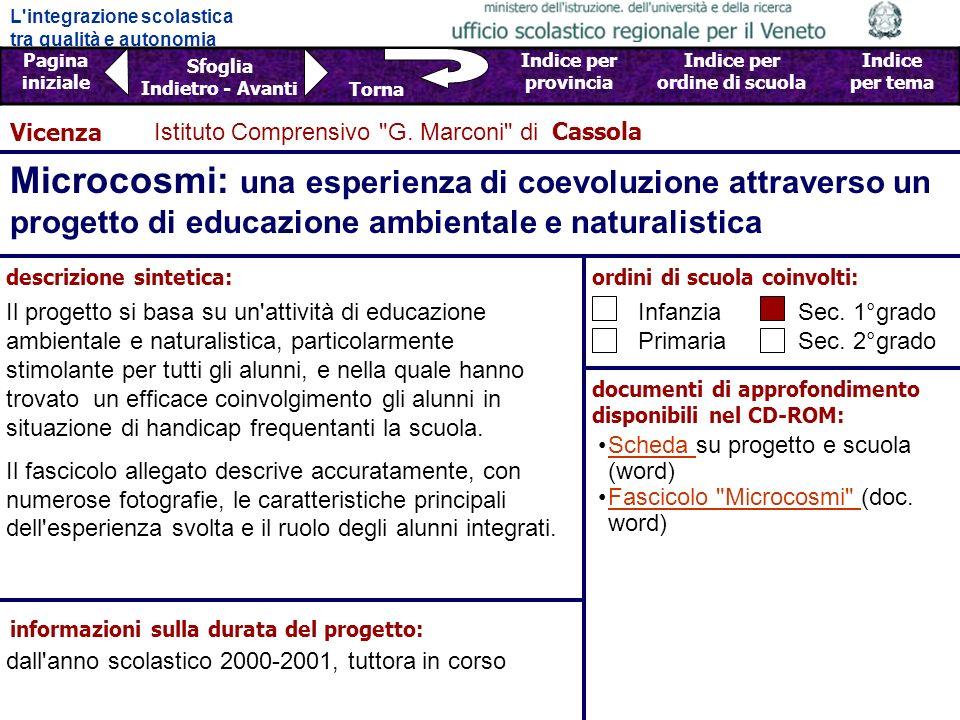 Vicenza Istituto Comprensivo G. Marconi di Cassola.