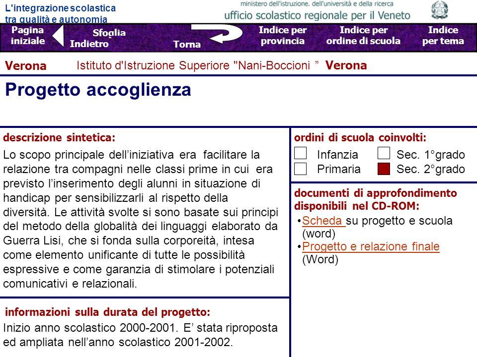 Progetto accoglienza Verona