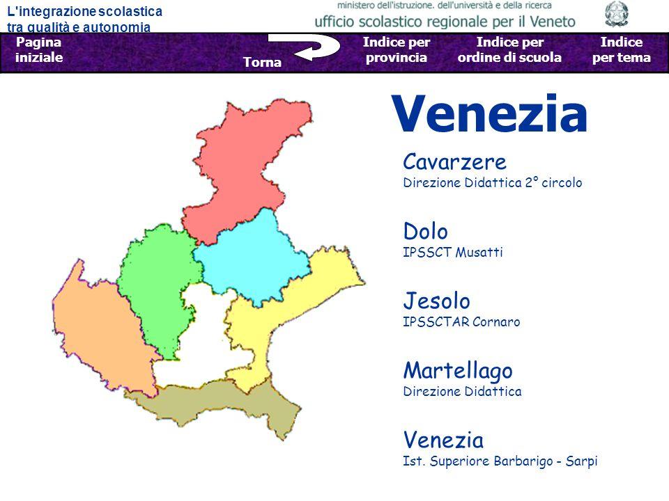 Venezia Cavarzere Direzione Didattica 2° circolo Dolo IPSSCT Musatti