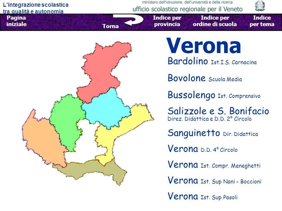 Verona Bardolino Ist.I.S. Carnacina Bovolone Scuola Media