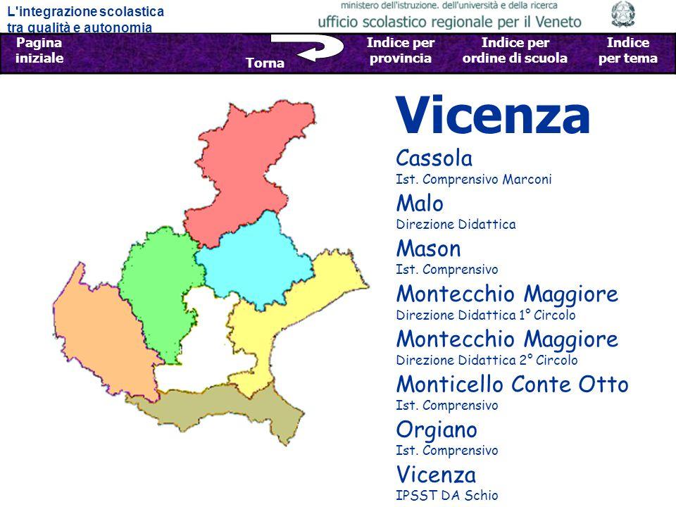 Vicenza Cassola Ist. Comprensivo Marconi Malo Direzione Didattica