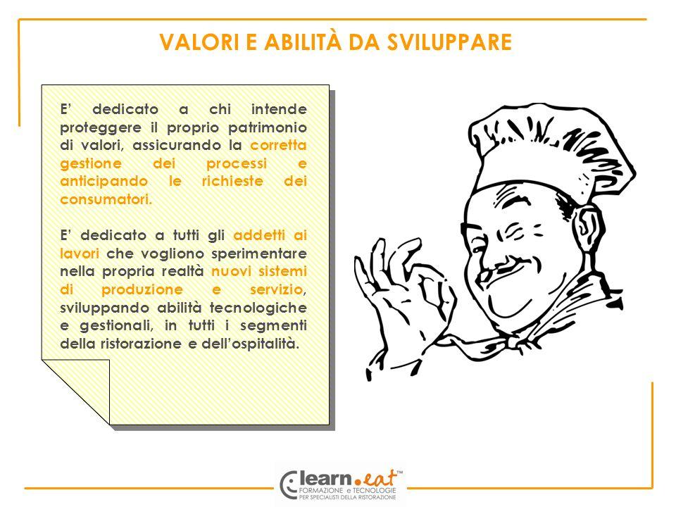 VALORI E ABILITÀ DA SVILUPPARE