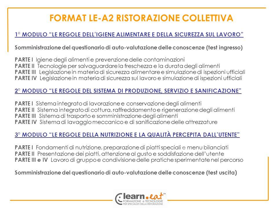 FORMAT LE-A2 RISTORAZIONE COLLETTIVA