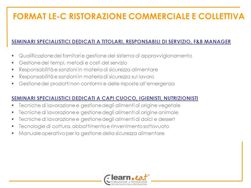 FORMAT LE-C RISTORAZIONE COMMERCIALE E COLLETTIVA