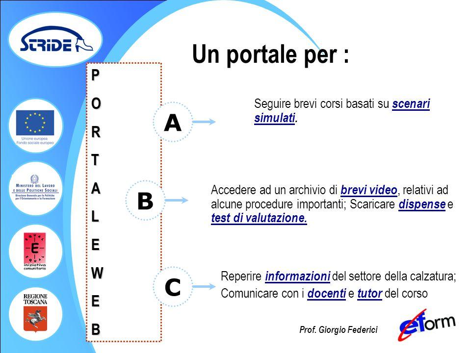 Un portale per : A B C P O R T A L E W B