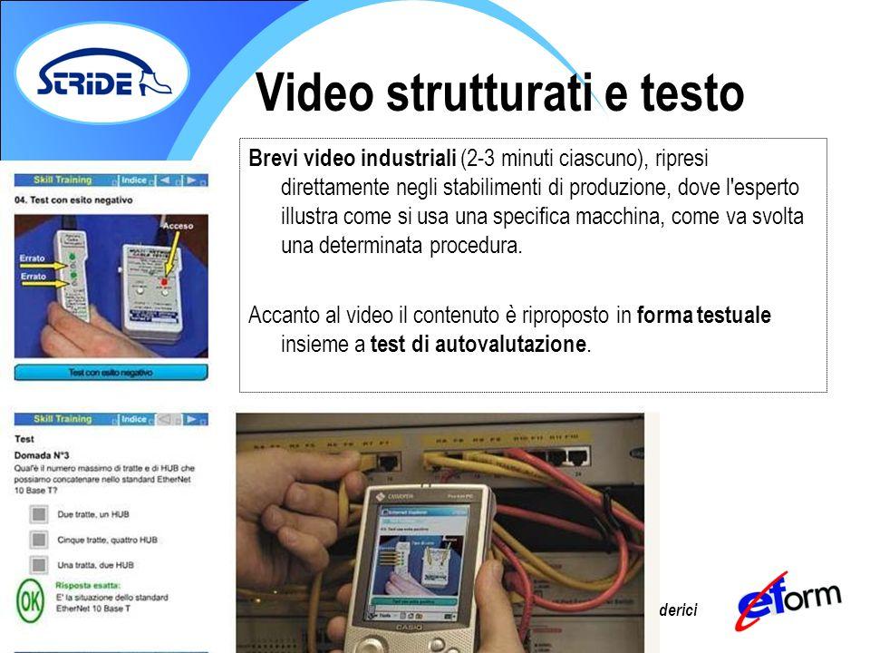 Video strutturati e testo
