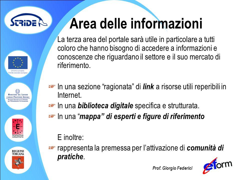 Area delle informazioni