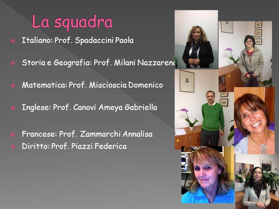 La squadra Italiano: Prof. Spadaccini Paola