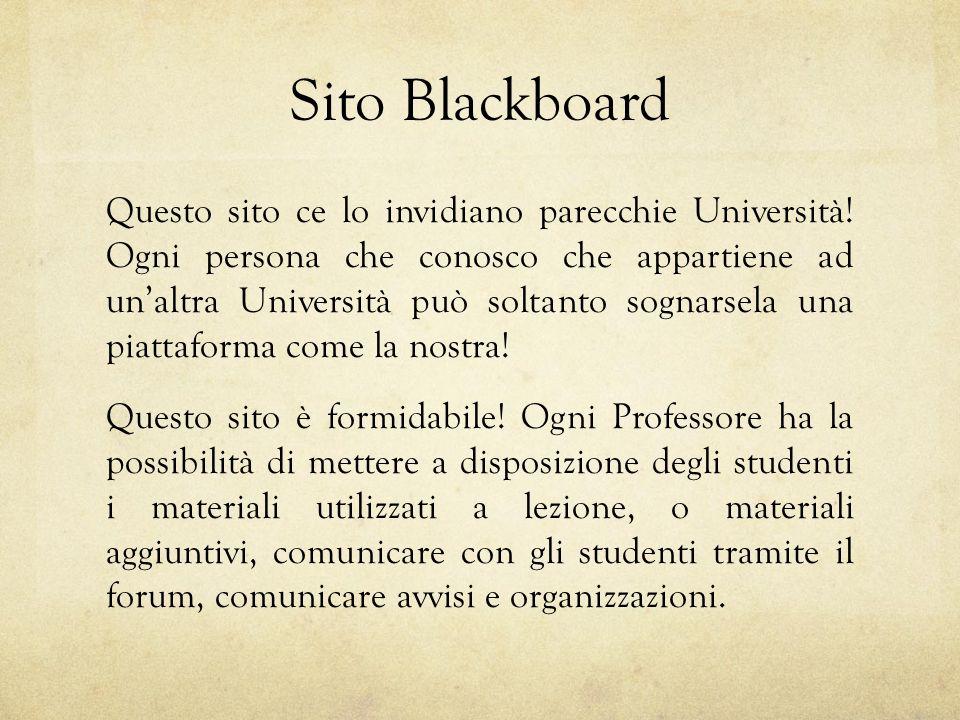 Sito Blackboard