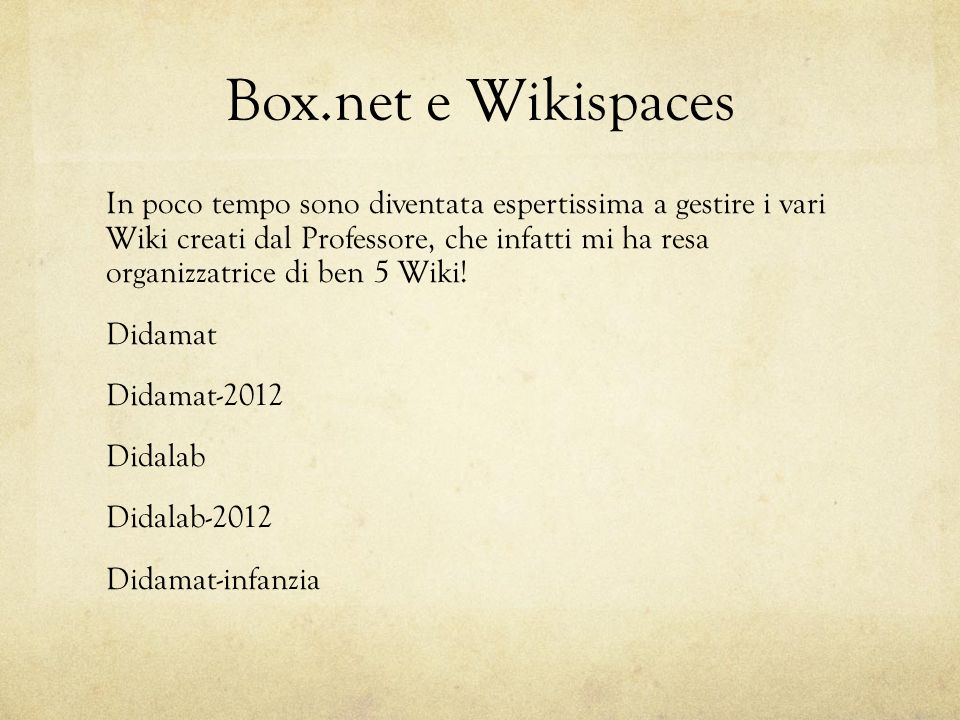 Box.net e Wikispaces