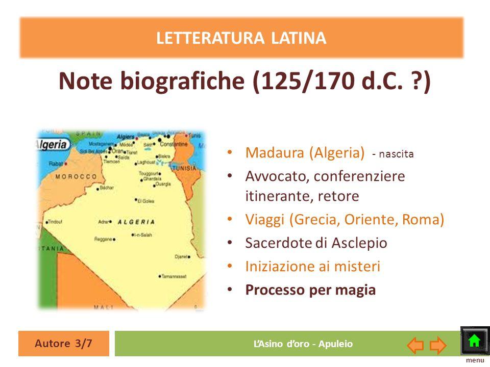 Note biografiche (125/170 d.C. )