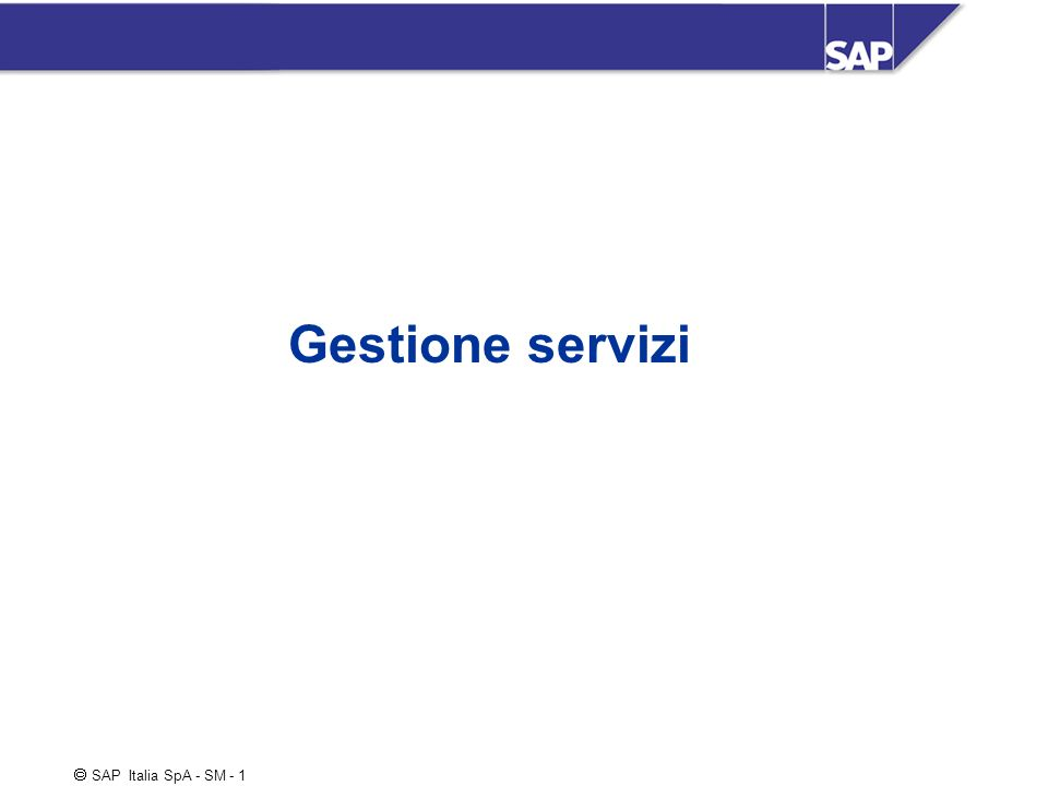 Gestione servizi