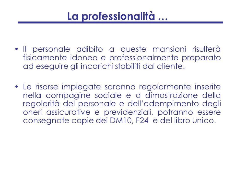 La professionalità …