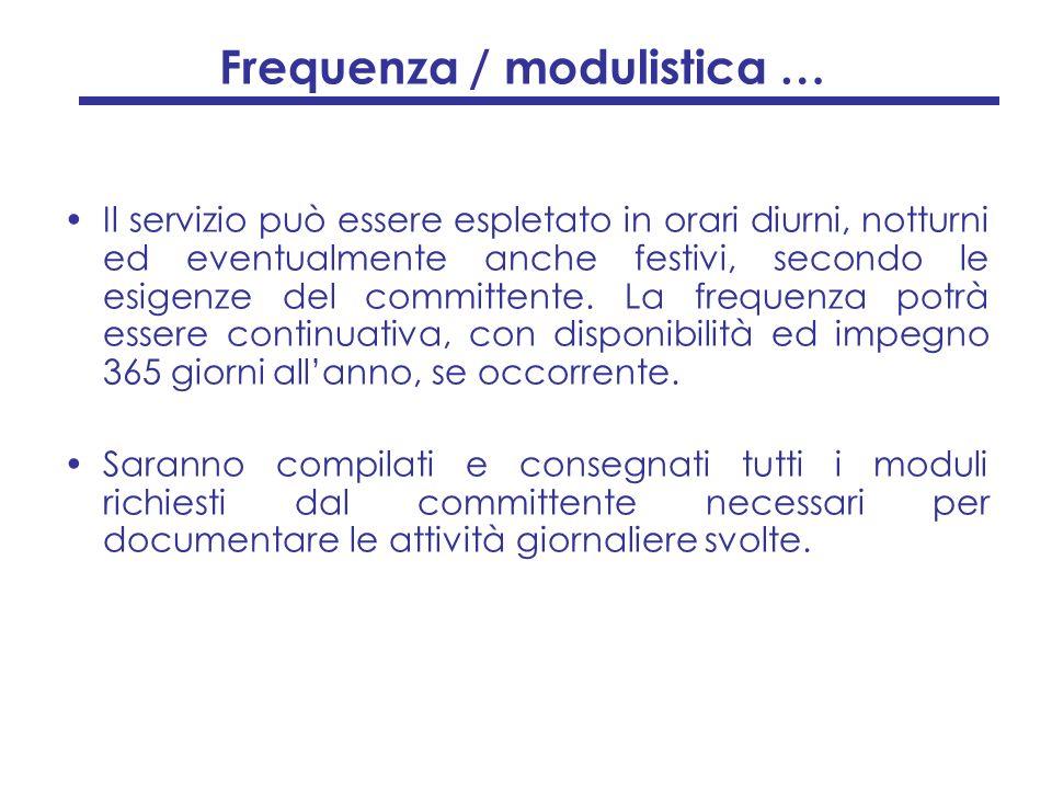 Frequenza / modulistica …