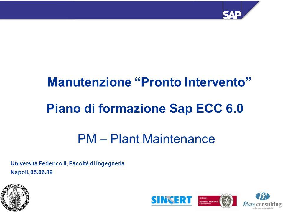 Manutenzione Pronto Intervento Piano di formazione Sap ECC 6.0