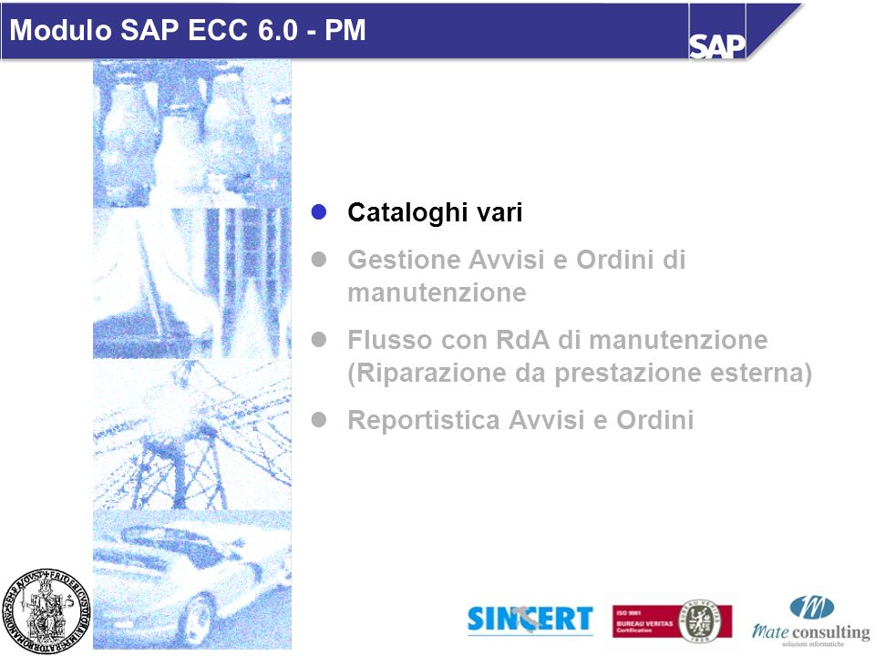 Modulo SAP ECC 6.0 - PM Cataloghi vari