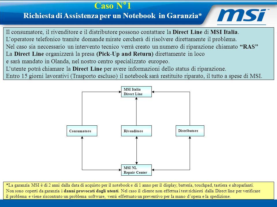 Richiesta di Assistenza per un Notebook in Garanzia*