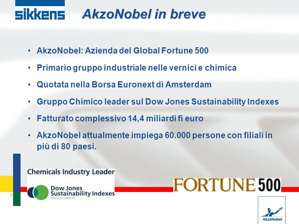 AkzoNobel in breve AkzoNobel: Azienda del Global Fortune 500