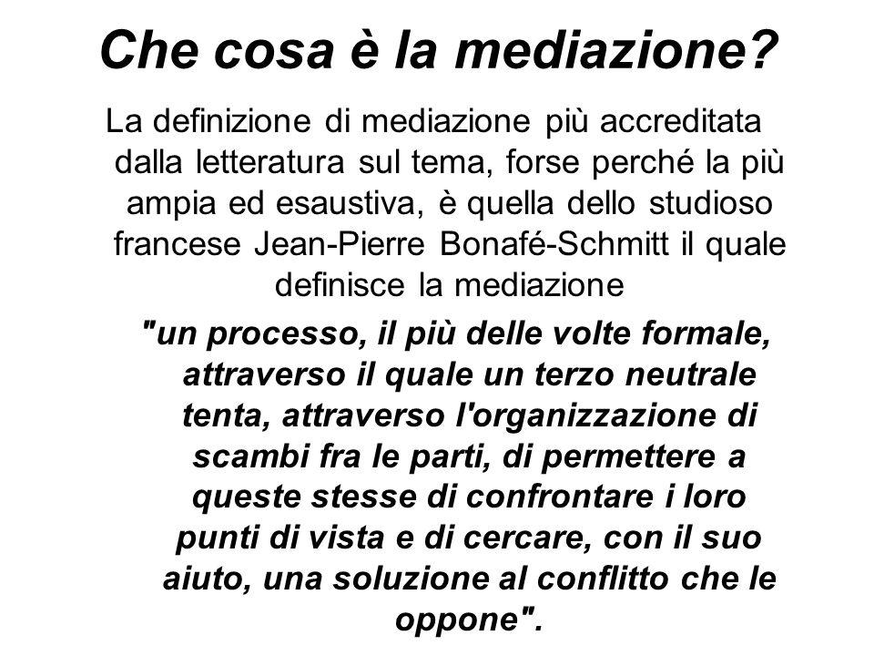 Che cosa è la mediazione