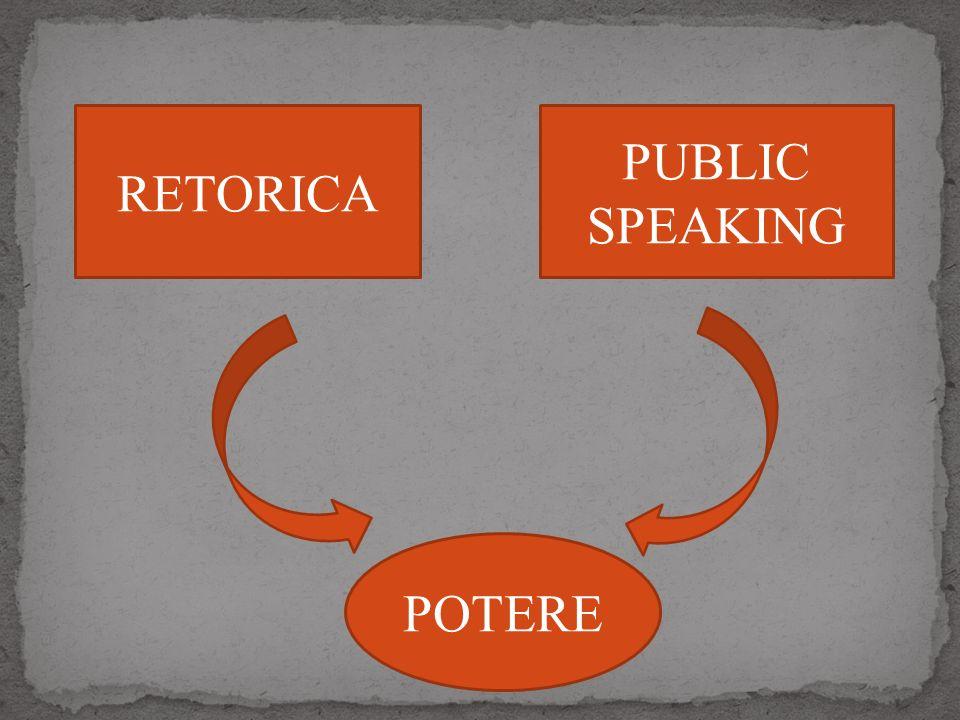 RETORICA PUBLIC SPEAKING POTERE