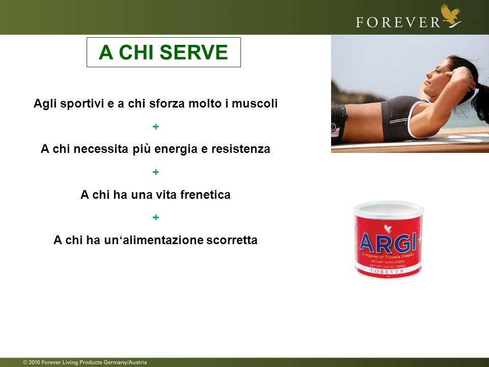 A CHI SERVE Agli sportivi e a chi sforza molto i muscoli +