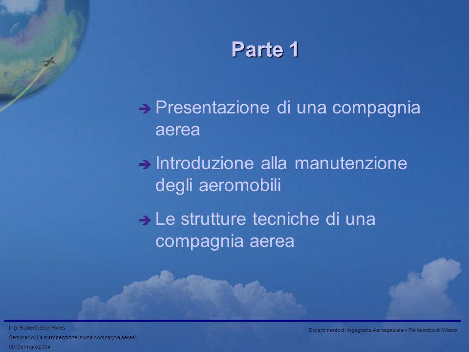 Parte 1 Presentazione di una compagnia aerea