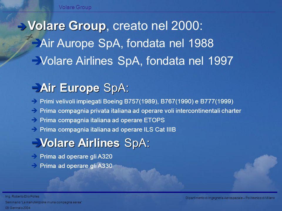 Volare Group, creato nel 2000: