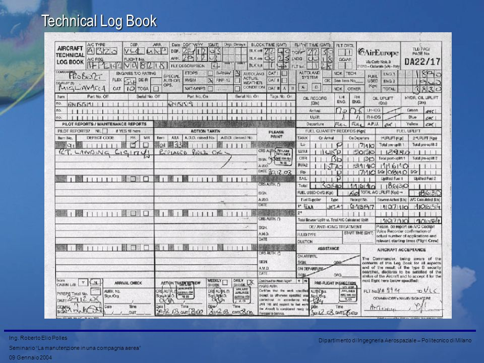 Technical Log Book