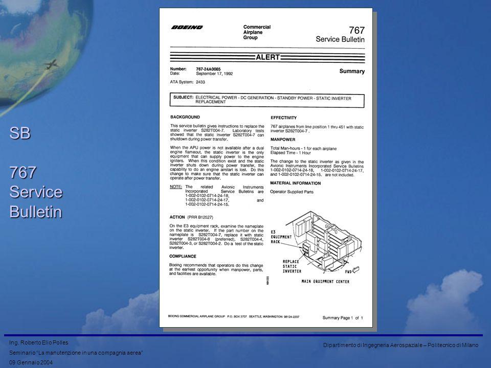 SB 767 Service Bulletin