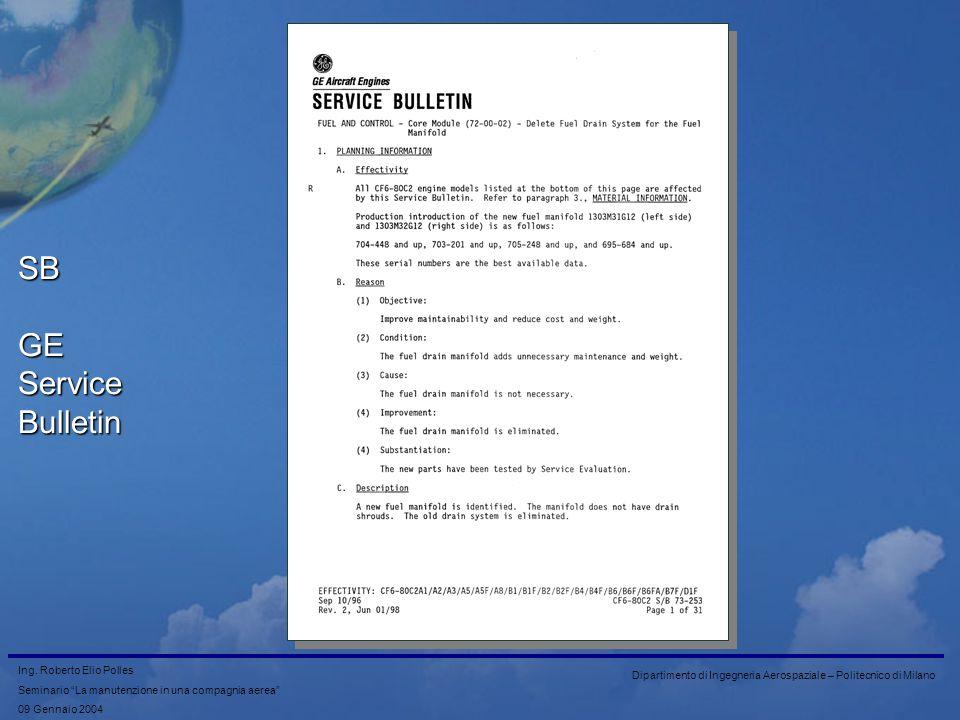 SB GE Service Bulletin
