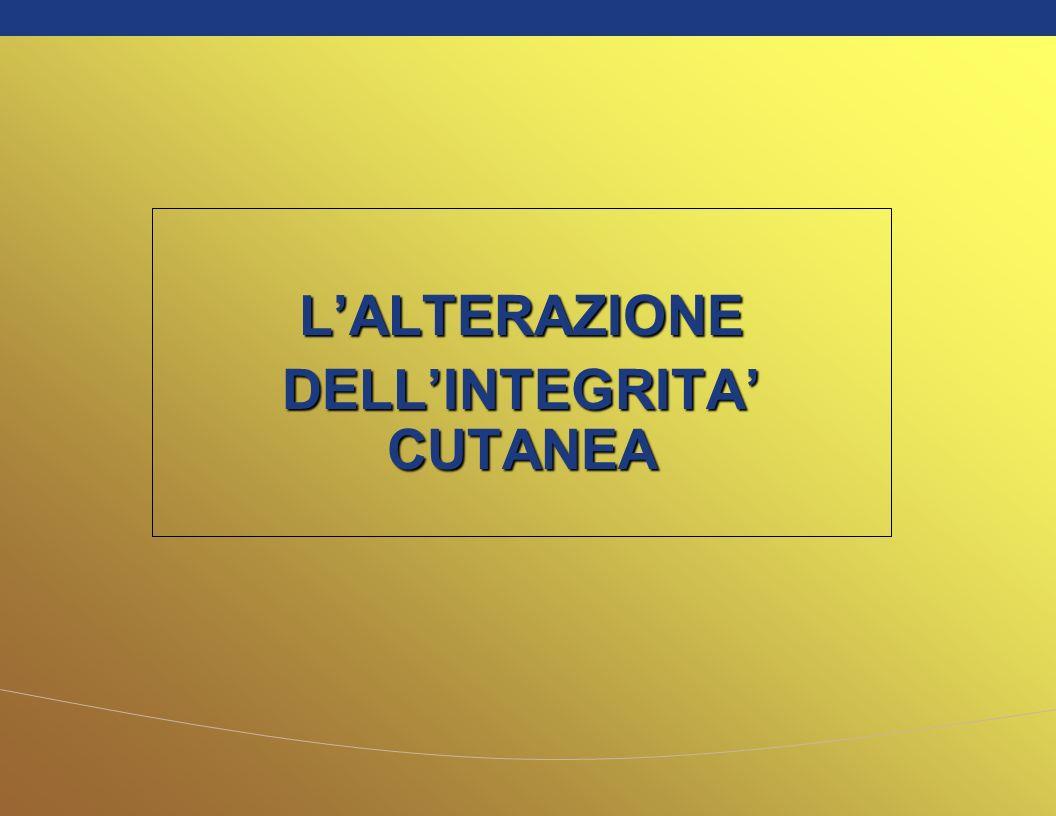 L'ALTERAZIONE DELL'INTEGRITA' CUTANEA