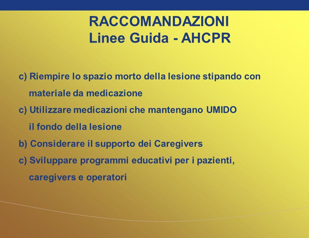 RACCOMANDAZIONI Linee Guida - AHCPR