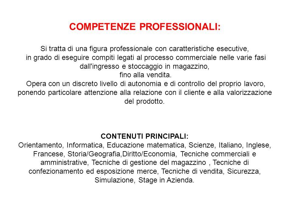 COMPETENZE PROFESSIONALI: