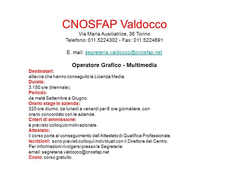 Operatore Grafico - Multimedia