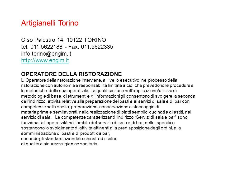 Artigianelli Torino C.so Palestro 14, 10122 TORINO