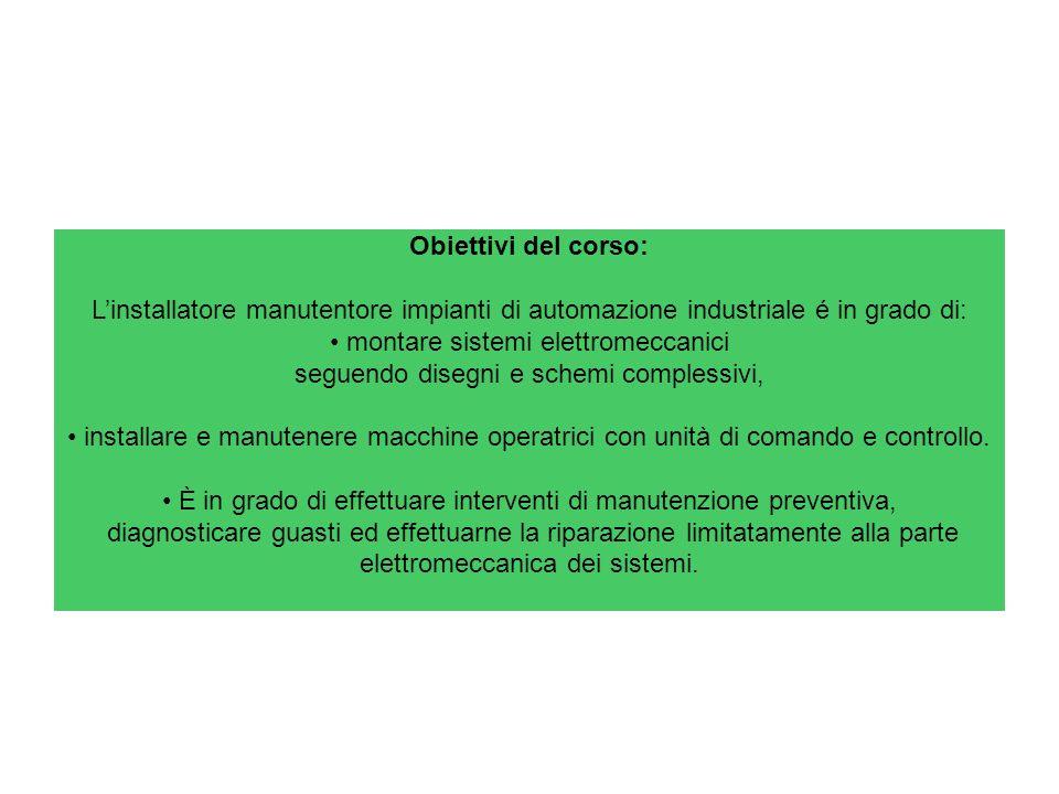 montare sistemi elettromeccanici