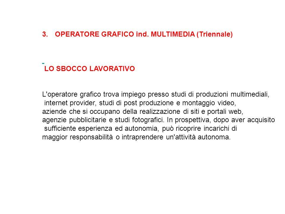 OPERATORE GRAFICO ind. MULTIMEDIA (Triennale)