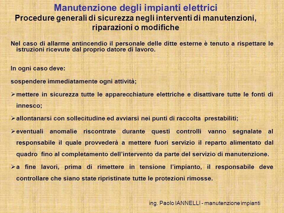 ing. Paolo IANNELLI - manutenzione impianti