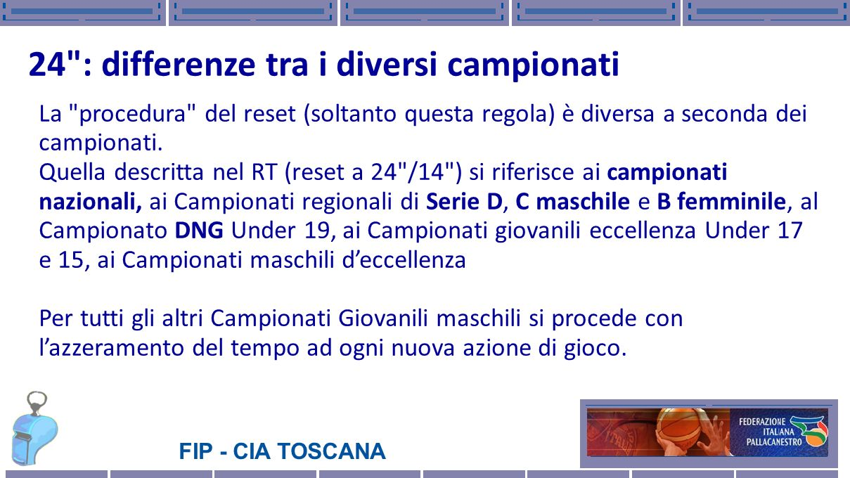 24 : differenze tra i diversi campionati