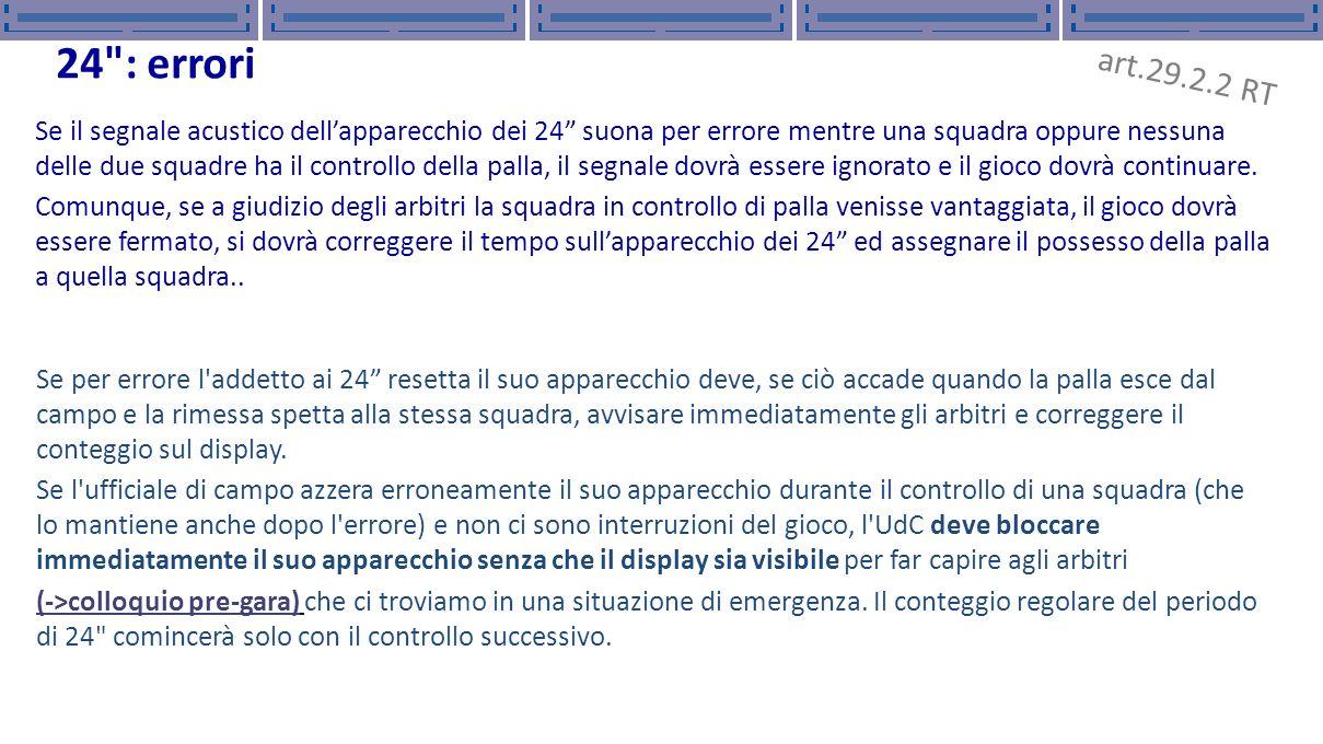 Titolo presentazione Titolo presentazione. 15/11/12. 15/11/12. 24 : errori. art.29.2.2 RT.