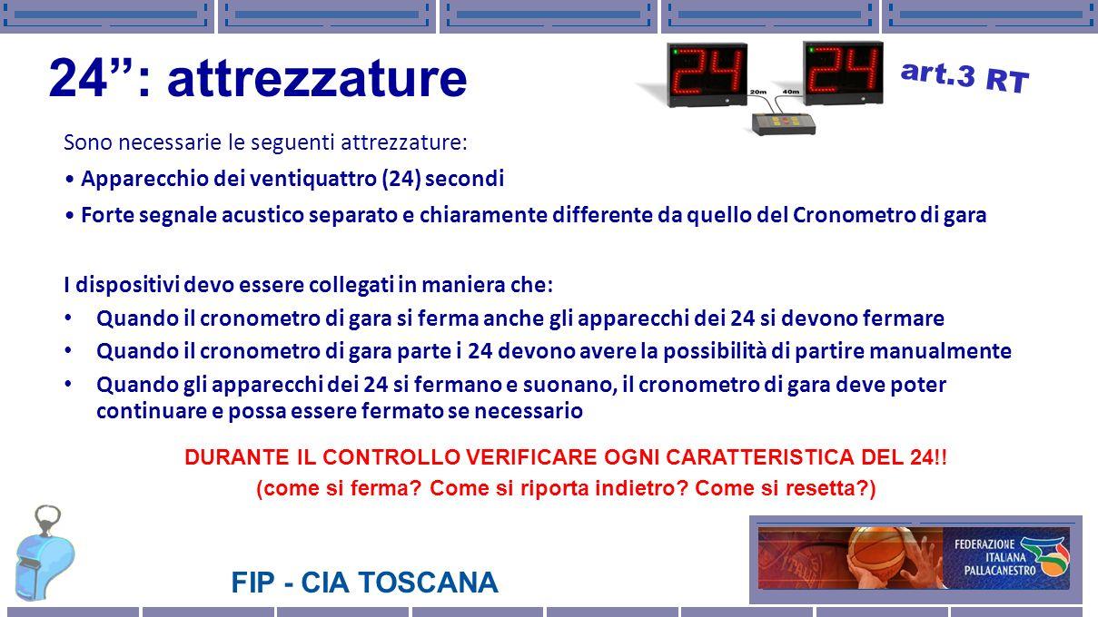 24 : attrezzature art.3 RT Sono necessarie le seguenti attrezzature: