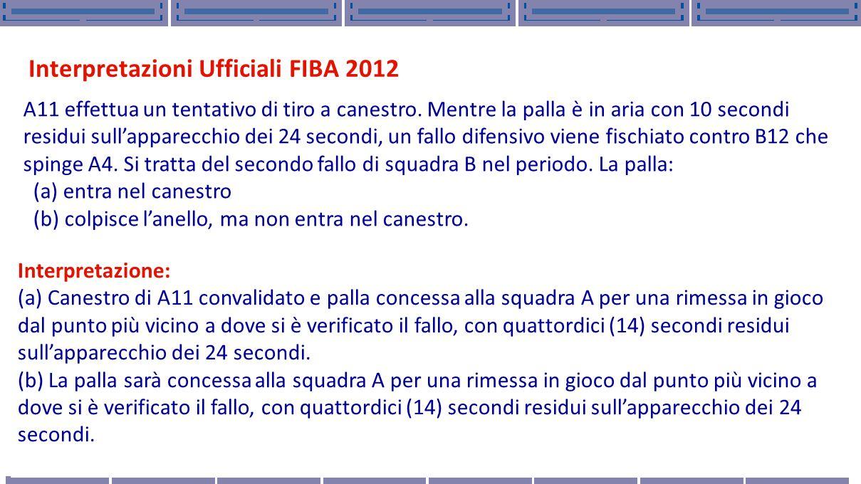 Interpretazioni Ufficiali FIBA 2012