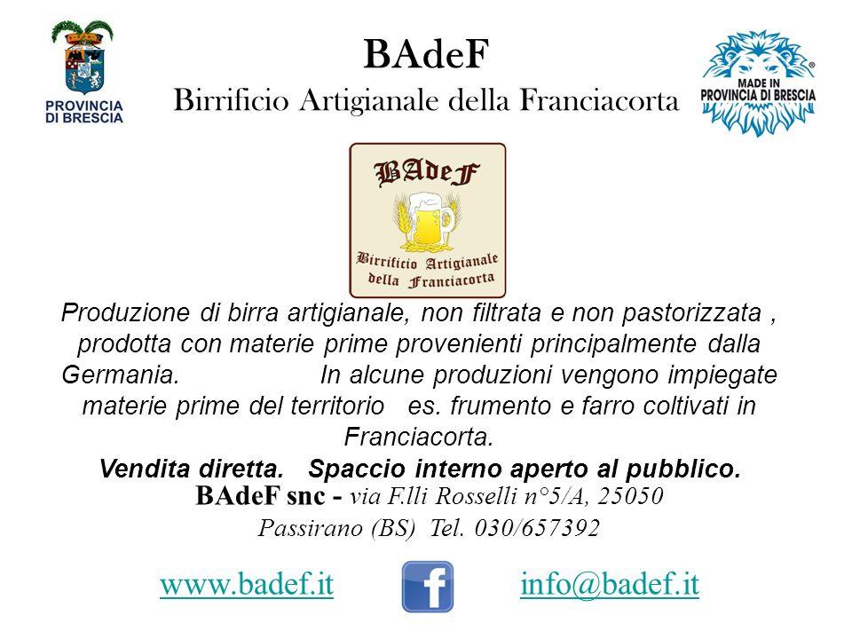 BAdeF Birrificio Artigianale della Franciacorta
