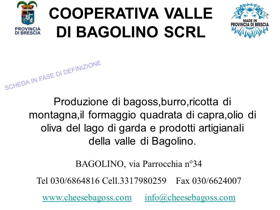 COOPERATIVA VALLE DI BAGOLINO SCRL