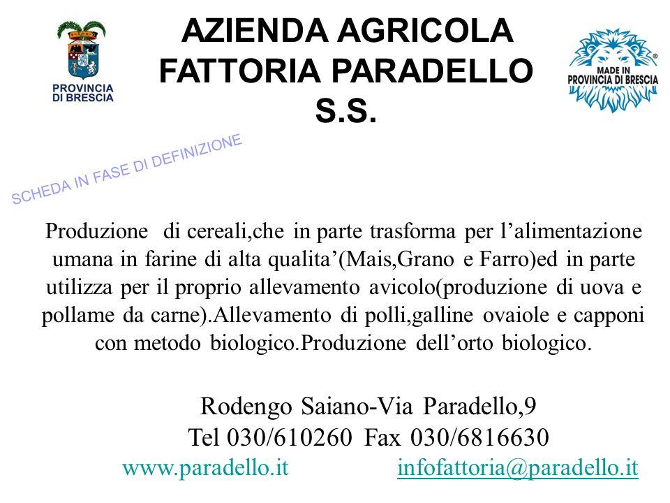 AZIENDA AGRICOLA FATTORIA PARADELLO S.S.