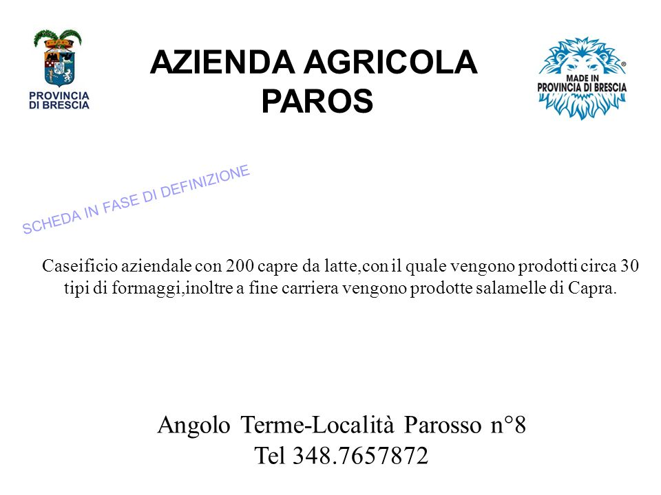 AZIENDA AGRICOLA PAROS