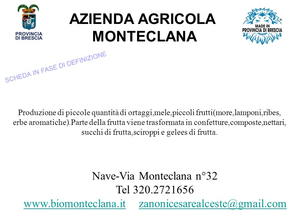 AZIENDA AGRICOLA MONTECLANA