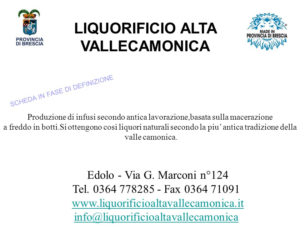LIQUORIFICIO ALTA VALLECAMONICA