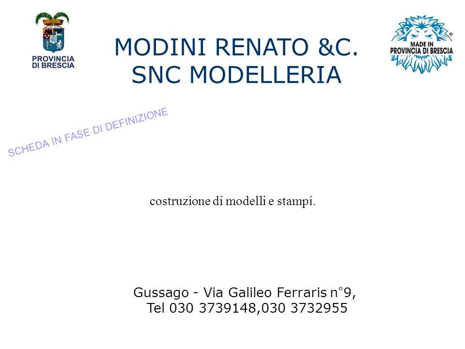 MODINI RENATO &C. SNC MODELLERIA