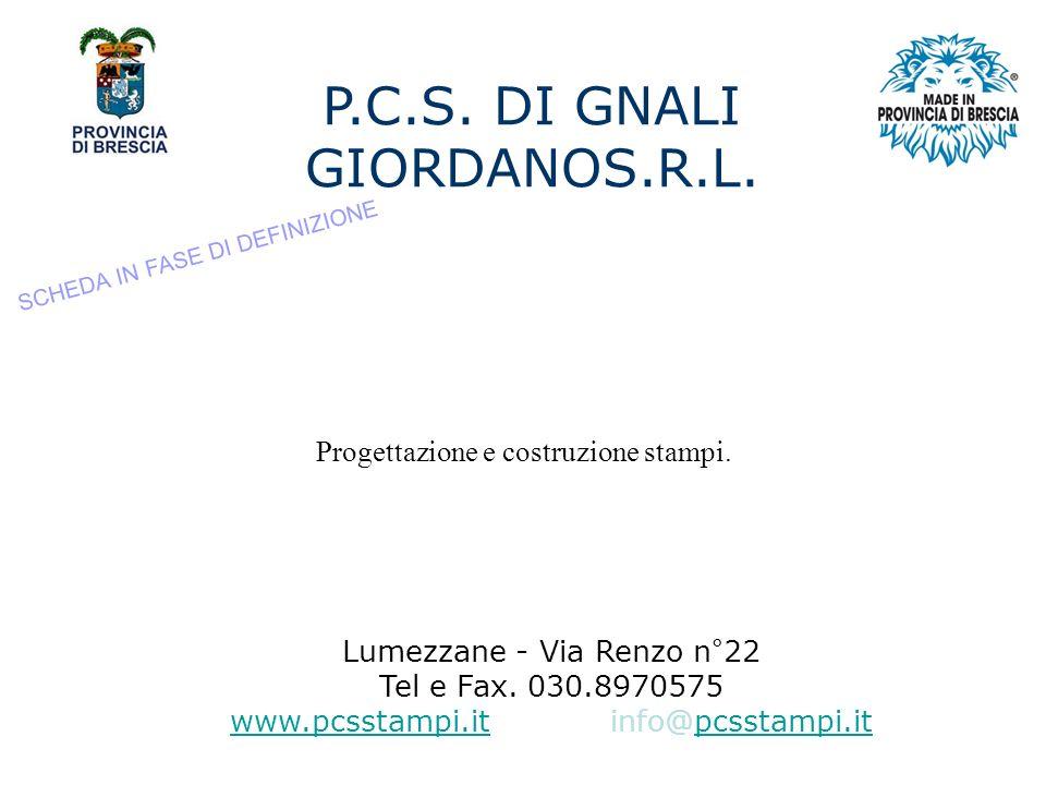 P.C.S. DI GNALI GIORDANOS.R.L.